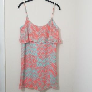 Charlotte Russe Coral and Mint Dress